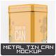 Metal Tin Can Mock-Up