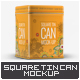 Square Tin Can Mock-Up - GraphicRiver Item for Sale