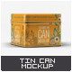 Tin Can Mock-Up - GraphicRiver Item for Sale