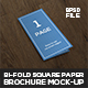 Bi-Fold Square paper Brochure Mock-Up - GraphicRiver Item for Sale