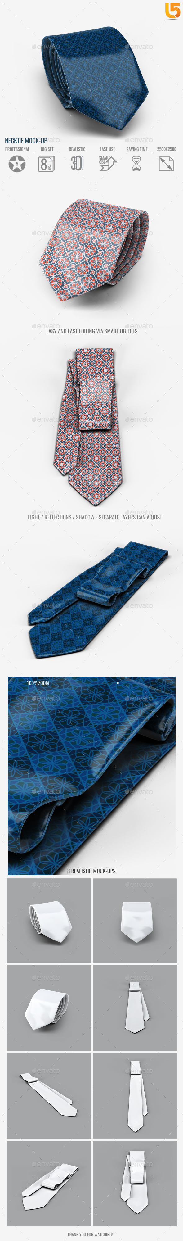 GraphicRiver Necktie Mock-Up 20413212