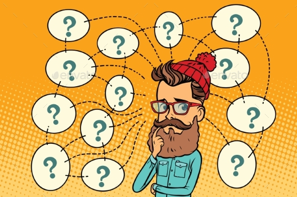 Hipster Solves the Problem, Questions - People Characters