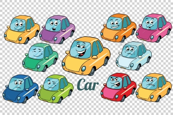 Car Vehicle Automobile Collection Set Neutral - Man-made Objects Objects