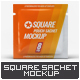 Square Pouch Sachet Mock-Up