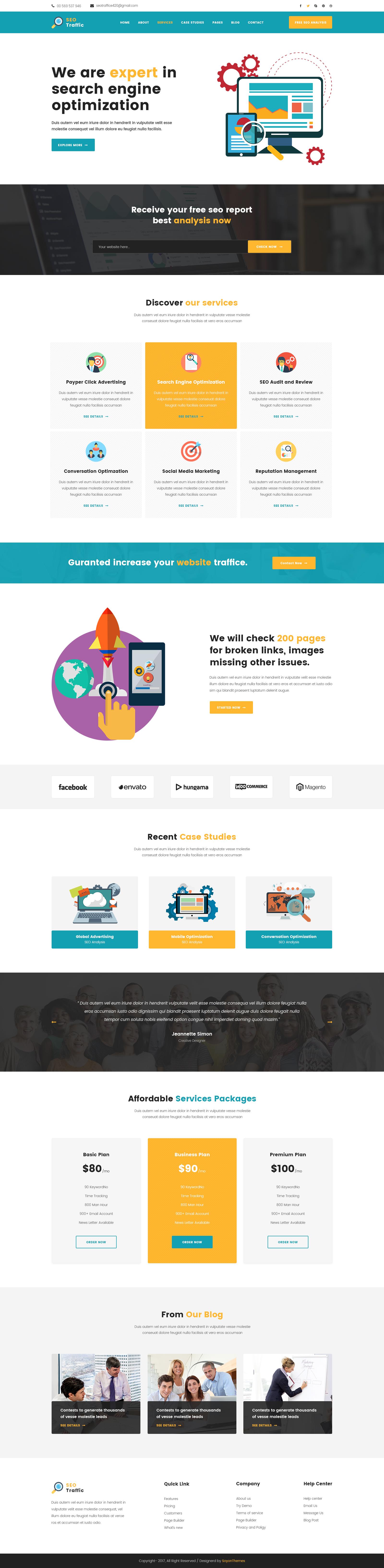 SEO TRAFFICE - Internet Marketing and SEO PSD Template by themeasad
