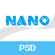Nano - App Landing PSD Template - ThemeForest Item for Sale