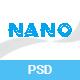 Nano - App Landing PSD Template