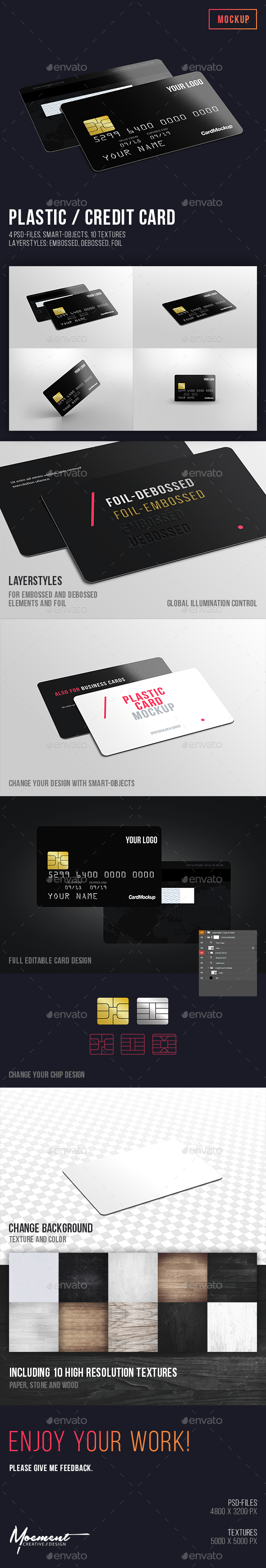 Plastic / Credit Card Mockup - Miscellaneous Print
