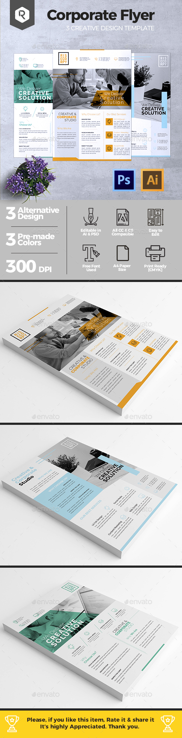 Creative Corporate Flyer Vol. 02 - Corporate Flyers