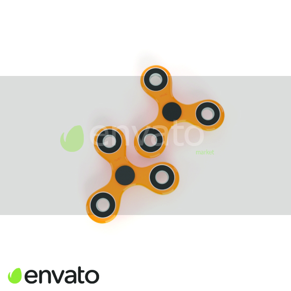 3 3D envato spinner - 3DOcean Item for Sale