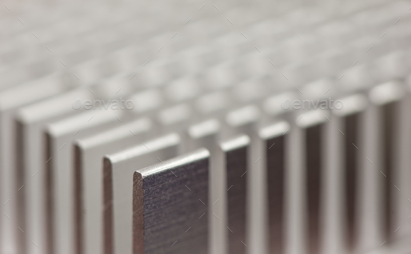Detail of a heatsink - Stock Photo - Images