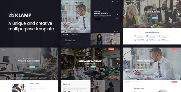 Klamp - Multipurpose HTML Template - Corporate Site Templates
