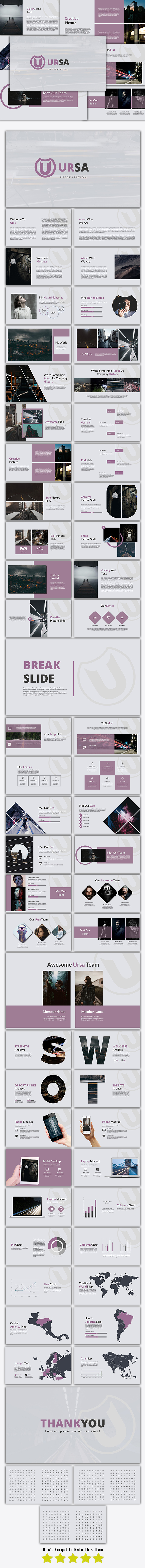 Ursa - Google Slide Template - Google Slides Presentation Templates