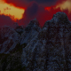 Abstract Aerial Mountain Landscape at Sunset 11 - VideoHive Item for Sale