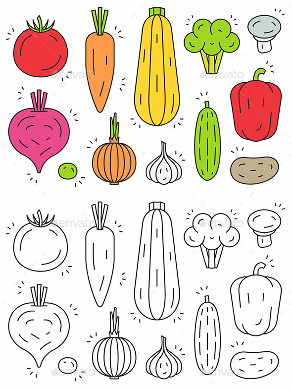 Vegetables Icon Set - Food Objects
