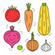 Vegetables Icon Set - GraphicRiver Item for Sale