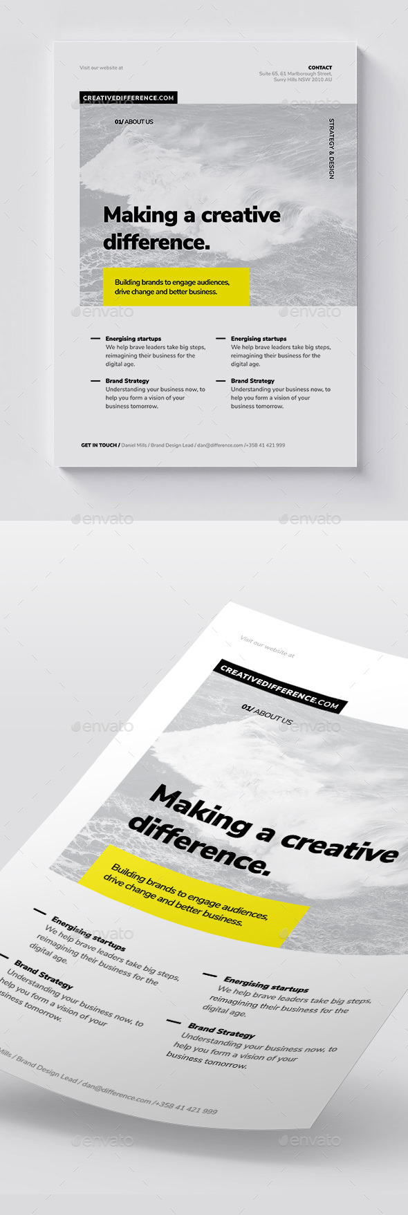 GraphicRiver Corporate Flyer Brochure Template 20414201