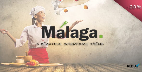 Malaga - A WordPress Theme for Food Bloggers