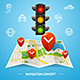 Navigation Concept Card or Poster. Vector - GraphicRiver Item for Sale