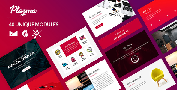 Plazma Email-Template + Online Builder - Newsletters Email Templates