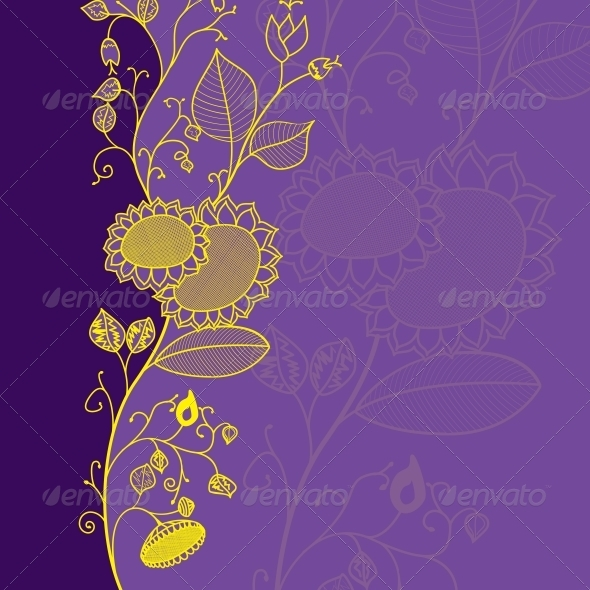 flower card - Flourishes / Swirls Decorative