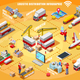 Express Delivery Infographic Isometric Vector - GraphicRiver Item for Sale