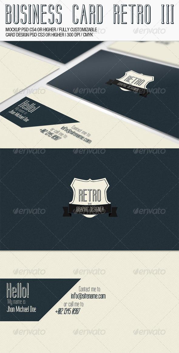 Business Card - Retro III - Corporate Business Cards