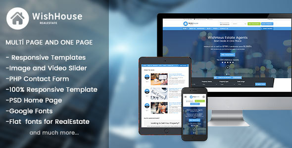 ThemeForest WishHouse Real Estate HTML Template 20415801