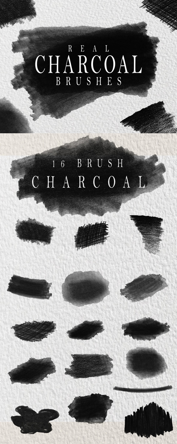 GraphicRiver Charcoal Brushes 20416020