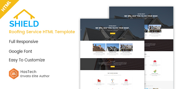 Shield - Roofing Service HTML Template - Business Corporate