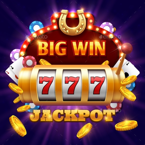 GraphicRiver Big Win 777 Lottery Vector Casino Concept 20416373