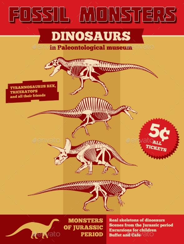 GraphicRiver Dinosaur Fossil Poster 20416445