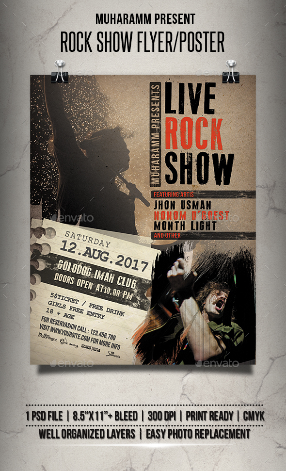 Rock Show Flyer / Poster - Events Flyers
