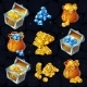 Isometric Treasure Elements Set