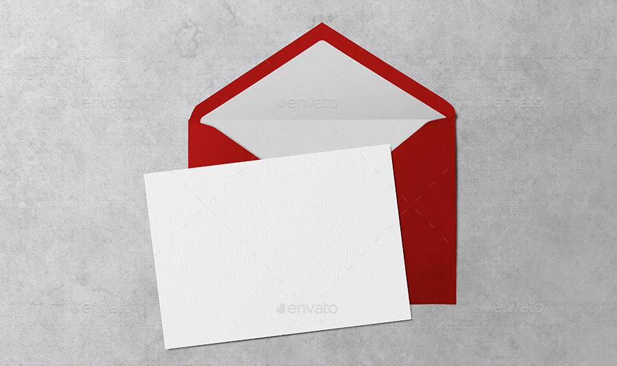 invitation  greeting card  u0026 envelope mockups by upmockup