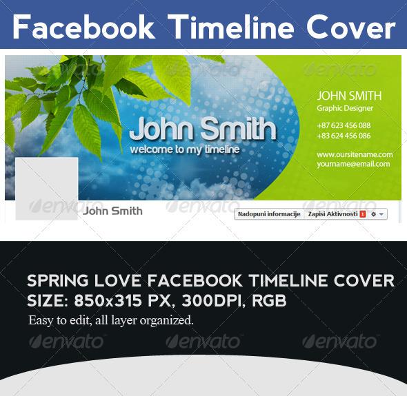 Spring Love Facebook Timeline Cover - Facebook Timeline Covers Social Media
