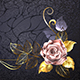 Rose from Pink Gold - GraphicRiver Item for Sale