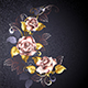 Three Roses in Pink Gold