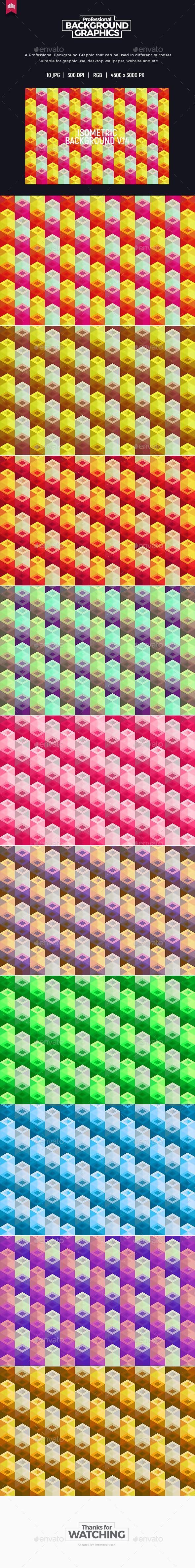 Isometric Background V.14 - Patterns Backgrounds