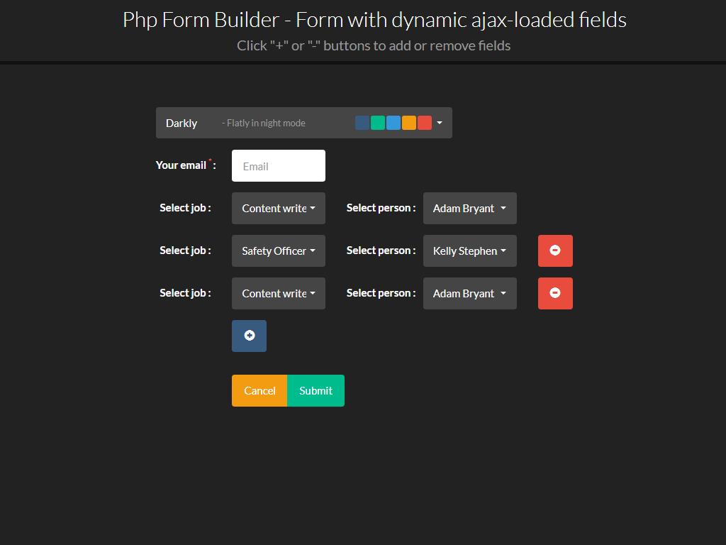 Php form builder by migli codecanyon bootstrap ajaxg falaconquin
