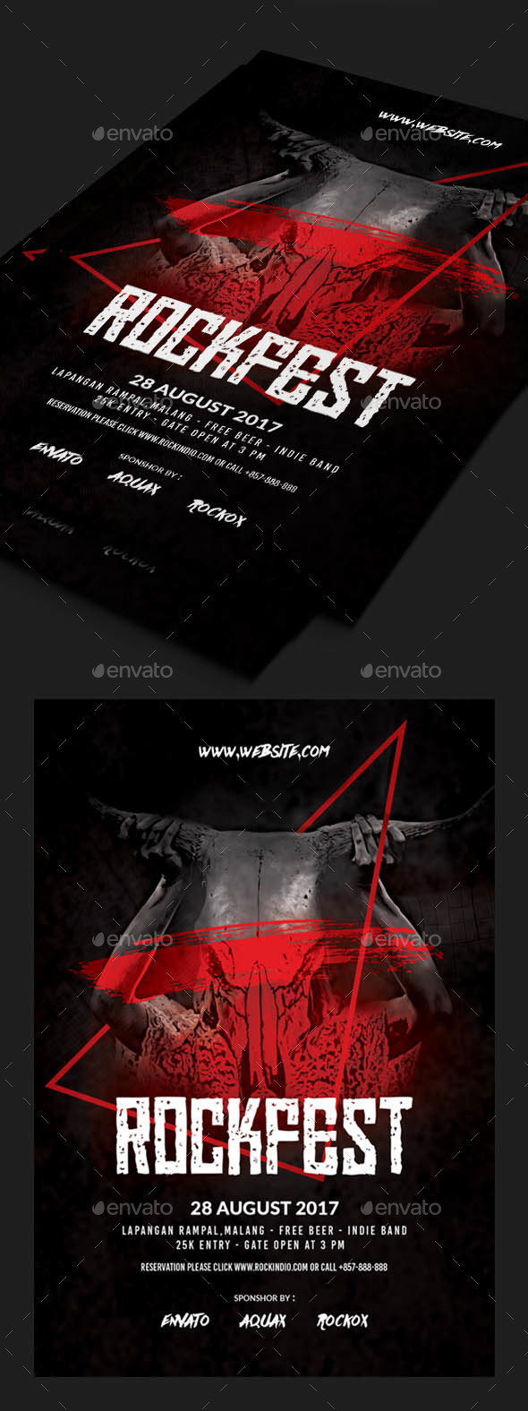 GraphicRiver Rock or Metal Flyer 20417179