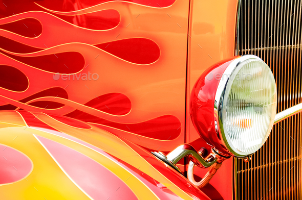 hot-rod flames - Stock Photo - Images