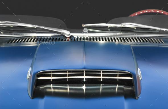 muscle car closeup - Stock Photo - Images