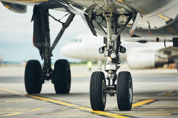 Wheels of the airplane - Stock Photo - Images