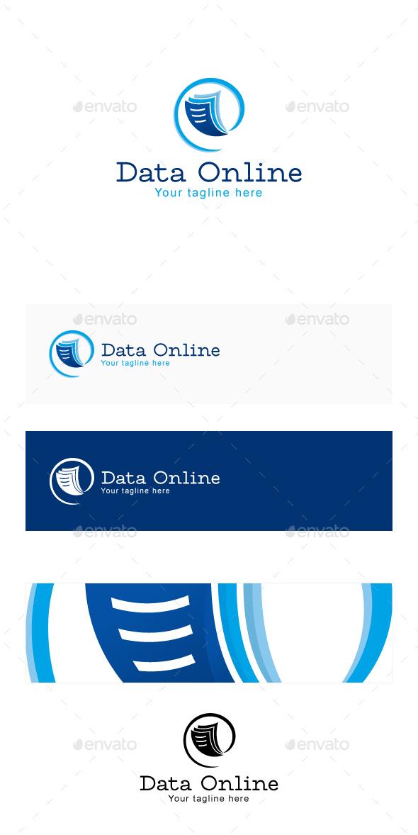 Data Online Stock Logo Template - Symbols Logo Templates