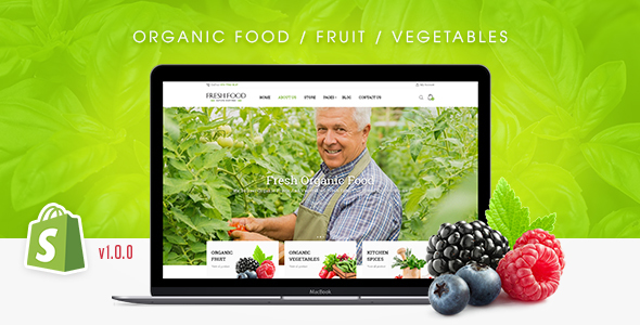 Fresh Food – Organic Food/Fruit/Vegetables eCommerce Shopify Theme