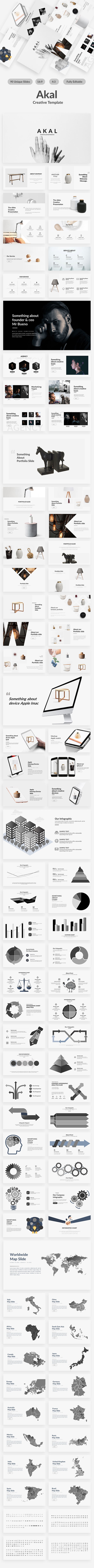 Akal Minimal Google Slide Template - Google Slides Presentation Templates