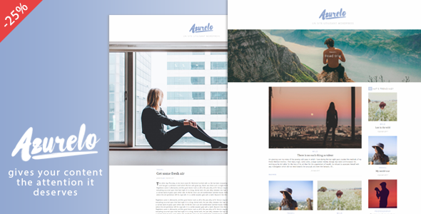 Azurelo, a Responsive Blog Theme - Blog / Magazine WordPress