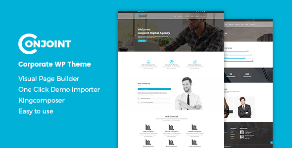 Conjoint - Corporate WordPress Theme - Business Corporate
