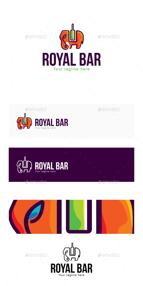 Royal Bar Stock Logo Template - Objects Logo Templates